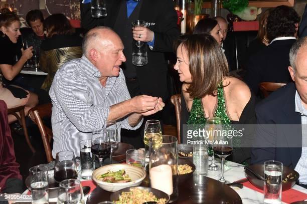 Sam Rosenblatt and Lisa Fields attend Billy Macklowe's 50th Birthday Spectacular at Chinese Tuxedo on April 21 2018 in New York City