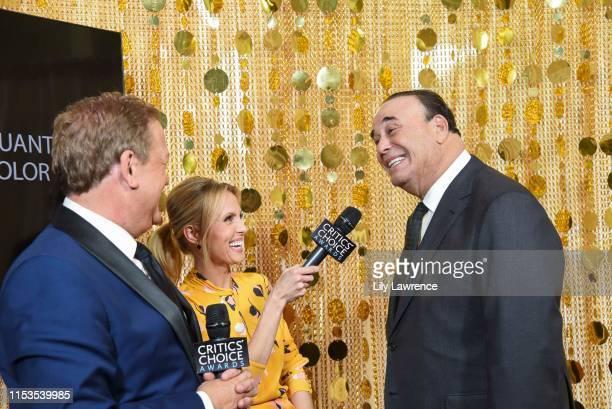 Sam Rubin and Jessica Holmes interview Jon Taffer at Critics' Choice Real TV Awards KTLA Interviews with Sam Rubin on June 02 2019 in Los Angeles...