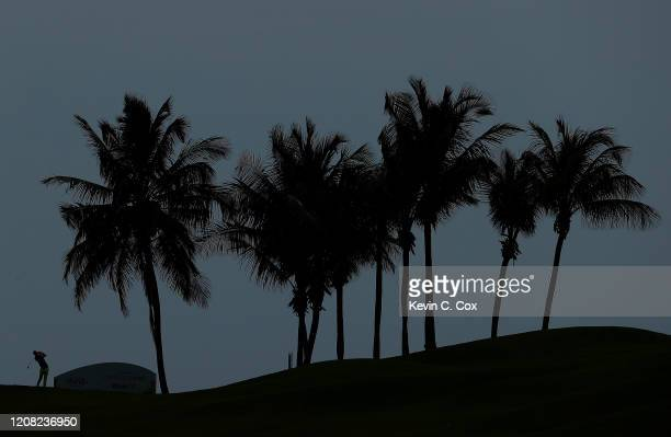 Sam Ryder tees off the 13th hole during the final round of the Puerto Rico Open at Grand Reserve Country Club on February 23 2020 in Rio Grande...
