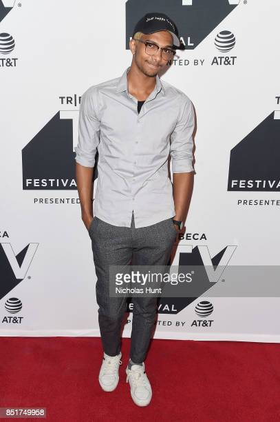 Sam Saffold attends the Tribeca TV Festival premiere of YouTube Creators for Change at Cinepolis Chelsea on September 22 2017 in New York City