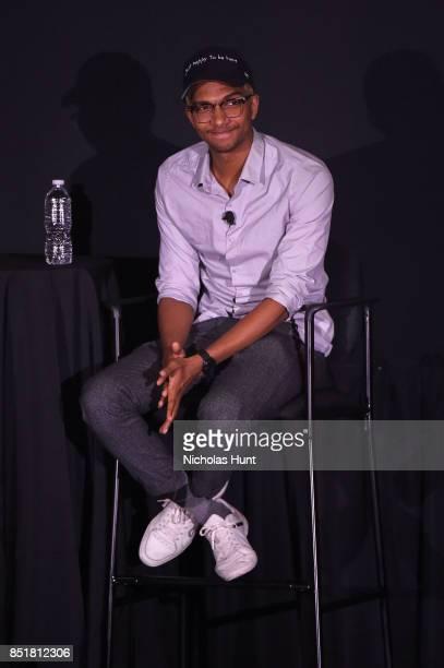 Sam Saffold speaks at the Tribeca TV Festival premiere of YouTube Creators for Change at Cinepolis Chelsea on September 22 2017 in New York City