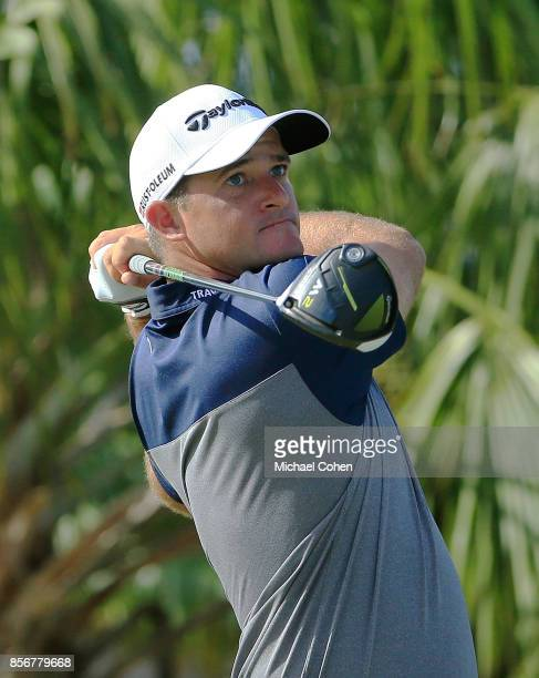 Sam Saunders hits his drive on the second hole during the fourth and final round of the Webcom Tour Championship held at Atlantic Beach Country Club...