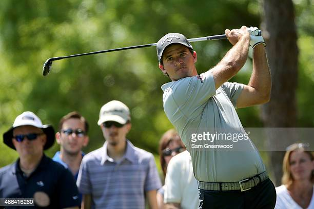 Sam Saunders hits off the second tee during the final round of the Valspar Championship at Innisbrook Resort Copperhead Course on March 15 2015 in...