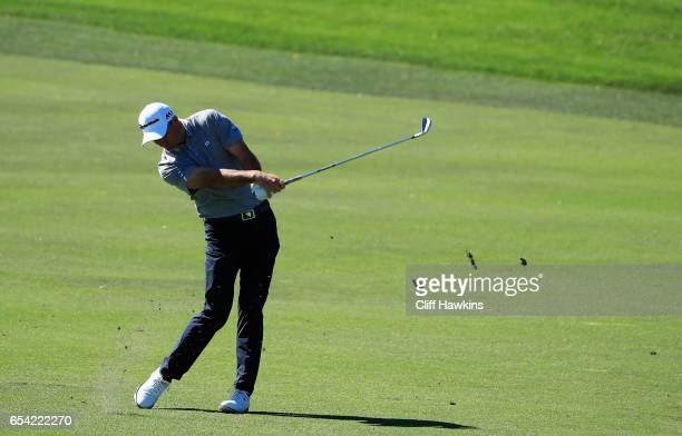 Sam Saunders of the United States plays a shot on the 11th hole during the first round of the Arnold Palmer Invitational Presented By MasterCard on...