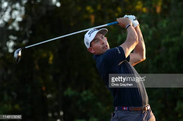 Sam Saunders of the United States tees off during the first round of the Zurich Classic at TPC Louisiana on April 25 2019 in Avondale Louisiana