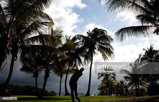 Sam Saunders plays his second shot on the 18th hole during the final round of the Puerto Rico Open presented by Banco Popular on March 8 2015 in Rio...