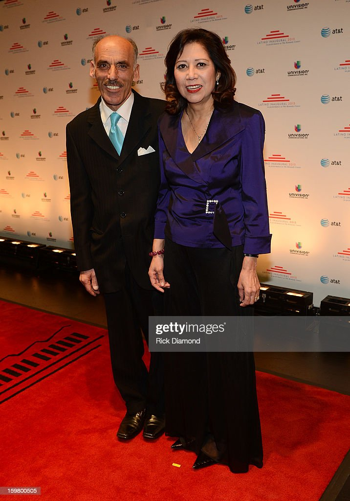 Sam Sayyad and congresswoman Hilda Solis attend Latino Inaugural 2013: In Performance at Kennedy Center at The Kennedy Center on January 20, 2013 in Washington, DC.