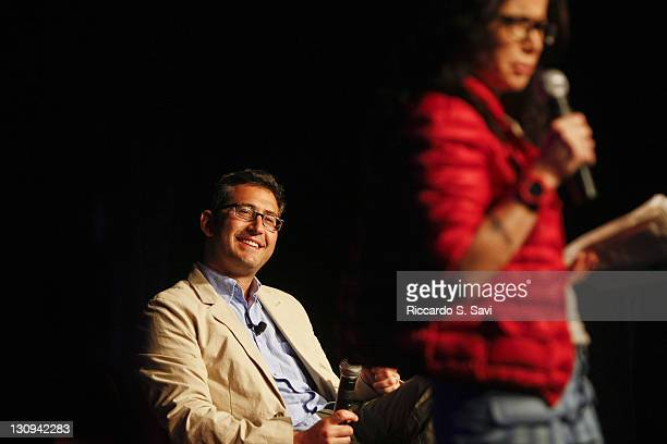 Sam Seder and Janeane Garofalo attend Comedy Art festival presents The News Has No Clothes on day 6 of Aspen Ideas Festival 2010 on July 11 2010 in...