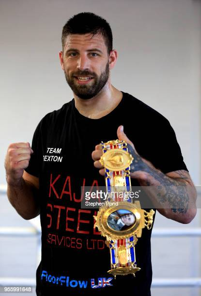 Sam Sexton during a media workout session ahead of his British heavyweight title fight against Hughie Fury pictured at Norwich Boy's Club on May 8...