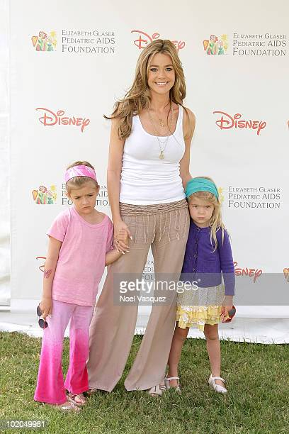 Sam Sheen Denise Richards and Lola Rose Sheen attend the 21st annual A Time For Heroes celebrity picnic at the Wadsworth Theater on June 13 2010 in...