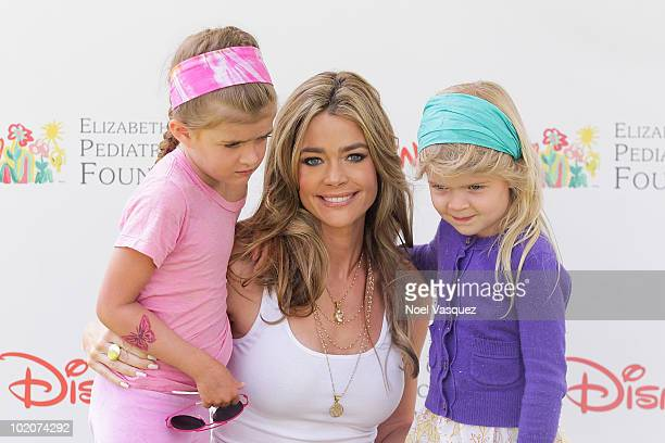 Sam Sheen Denise Richards and Lola Sheen attend the 21st annual A Time For Heroes celebrity picnic at the Wadsworth Theater on June 13 2010 in Los...