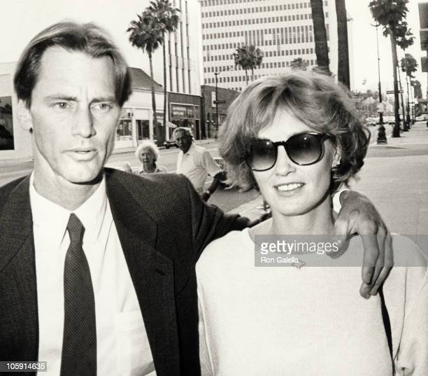 Sam Shepard and Jessica Lange during 'The Natural' Los Angeles Premiere at Samuel Goldwyn Theater in Beverly Hills California United States