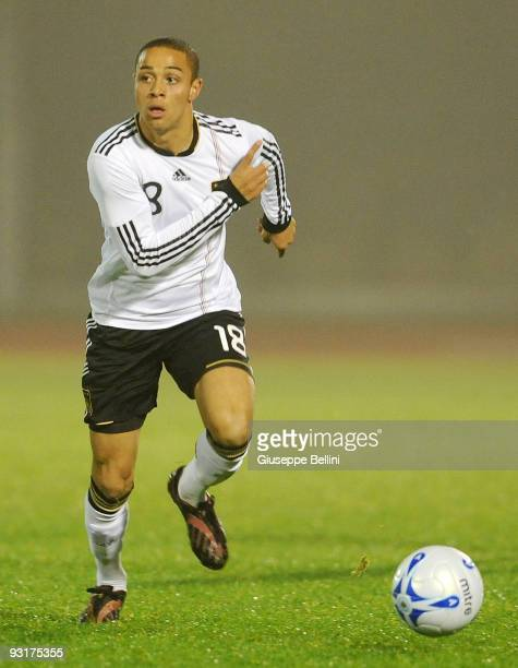 Sam Sidney of Germany in action during the UEFA Under 21 Championship match between San Marino and Germany at Olimpico stadium on November 17, 2009...