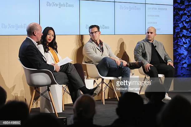 Sam Sifton Food editor The New York Times moderates Hannah Cheng cofounder Mimi Cheng's Adam Eskin founder and CEO Dig Inn and Nicolas Jammet...