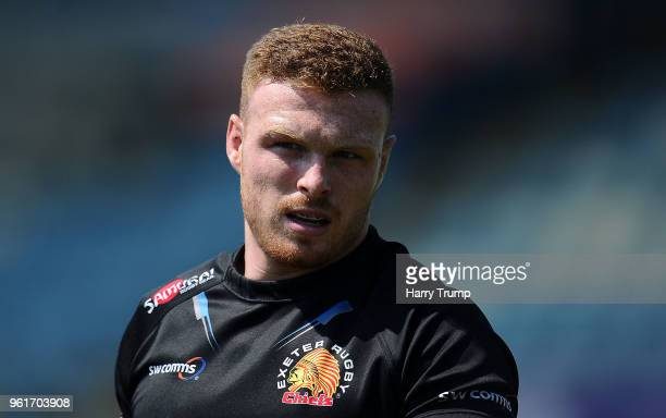 Sam Simmonds of Exeter Chiefs during an Exeter Chiefs Media Session at Sandy Park on May 23 2018 in Exeter England