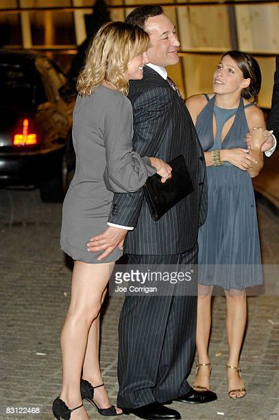 Sam Simon and guest attend the wedding of Howard Stern and Beth Ostrosky at Le Cirque on October 3 2008 in New York City