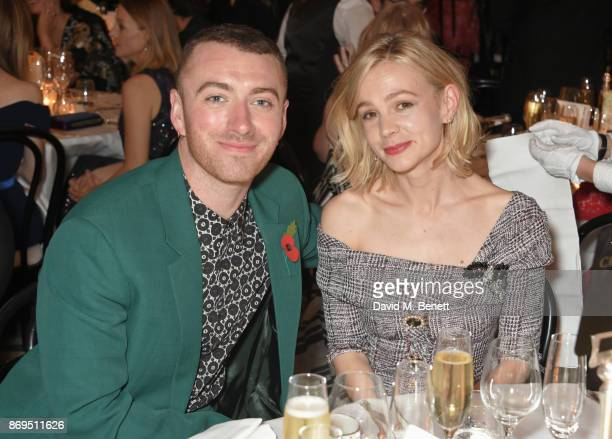 Sam Smith and Carey Mulligan attend Harper's Bazaar Women of the Year Awards in association with Ralph Russo Audemars Piguet and MercedesBenz at...