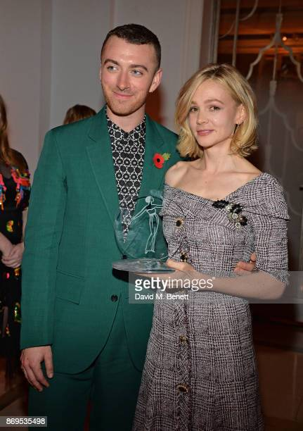 Sam Smith and Carey Mulligan attend Harper's Bazaar Women of the Year Awards 2017 Sponsored by Audemars Piguet on November 2 2017 in London England