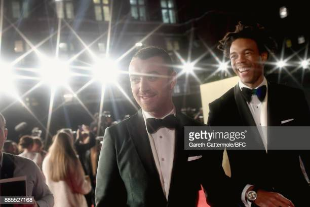 Sam Smith and Charlie CaselyHayford attend The Fashion Awards 2017 in partnership with Swarovski at Royal Albert Hall on December 4 2017 in London...