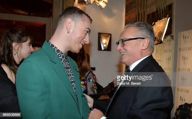 Sam Smith and Franco Ziviani attend Harper's Bazaar Women of the Year Awards 2017 Sponsored by Audemars Piguet on November 2 2017 in London England