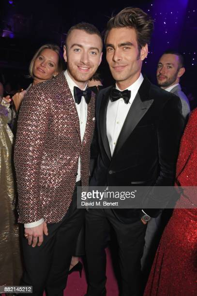 Sam Smith and Jon Kortajarena attend CLUB LOVE for the Elton John AIDS Foundation in association with BVLGARI after party sponsored by Belvedere...