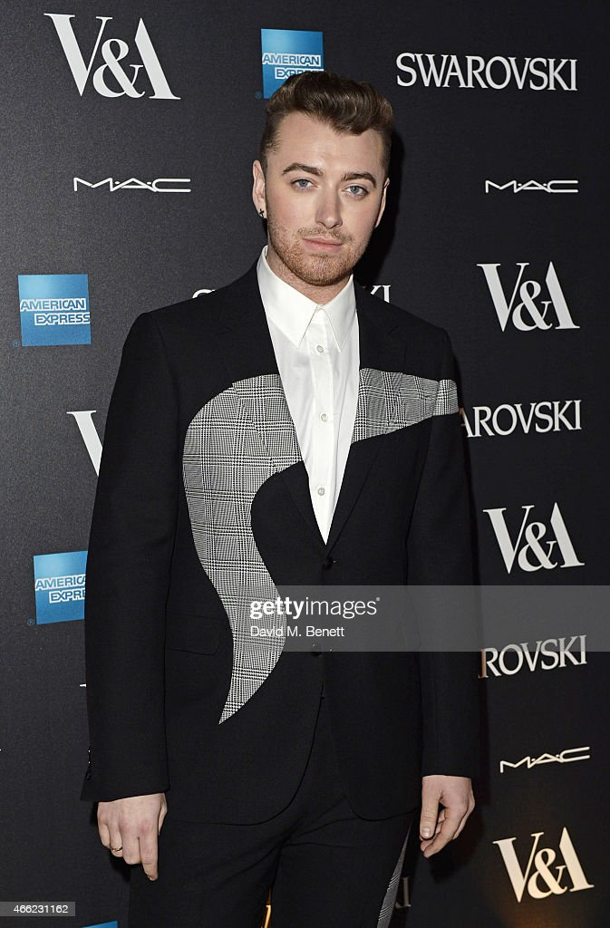Sam Smith arrives at the Alexander McQueen: Savage Beauty VIP private view at the Victoria and Albert Museum on March 14, 2015 in London, England.
