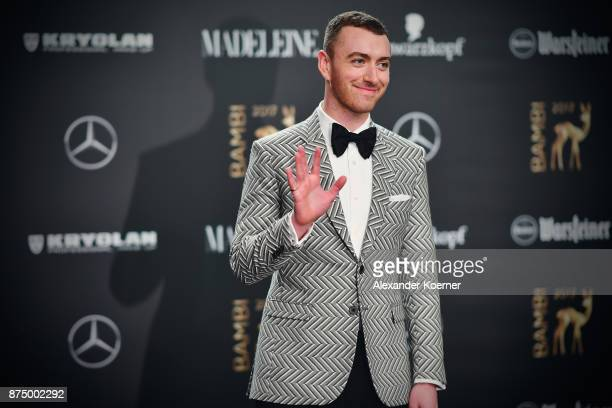 Sam Smith arrives at the Bambi Awards 2017 at Stage Theater on November 16 2017 in Berlin Germany