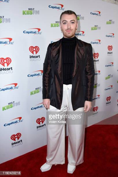 Sam Smith attends 1027 KIIS FM's Jingle Ball 2019 Presented by Capital One at the Forum on December 6 2019 in Los Angeles California