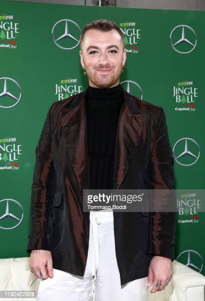 Sam Smith attends 102.7 KIIS FM's Jingle Ball 2019 Presented by Capital One at the Forum on December 6, 2019 in Los Angeles, California.