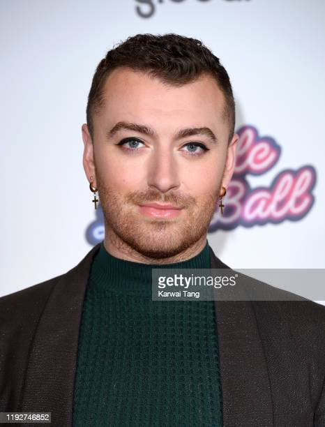 Sam Smith attends day two of Capital's Jingle Bell Ball 2019 at The O2 Arena on December 08, 2019 in London, England.