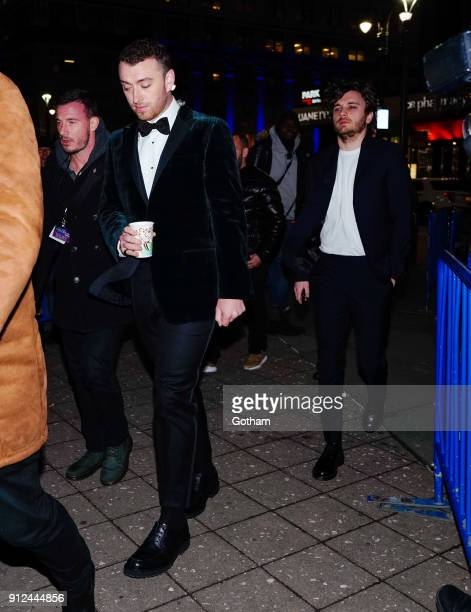 Sam Smith attends Elton John's tribute concert at Madison Square Garden on January 30 2018 in New York City