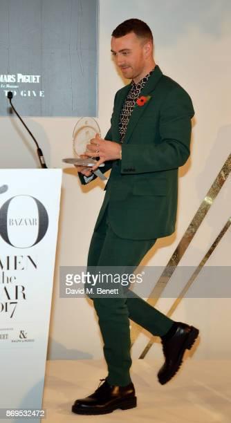 Sam Smith attends Harper's Bazaar Women of the Year Awards 2017 Sponsored by Audemars Piguet on November 2 2017 in London England