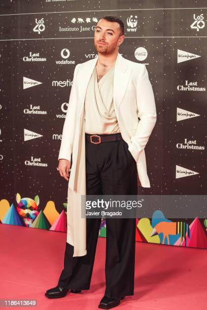 Sam Smith attends 'Los40 music awards 2019' photocall at Wizink Center on November 08 2019 in Madrid Spain