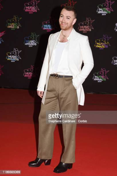Sam Smith attends the 21st NRJ Music Awards At Palais des Festivals on November 09, 2019 in Cannes, France.