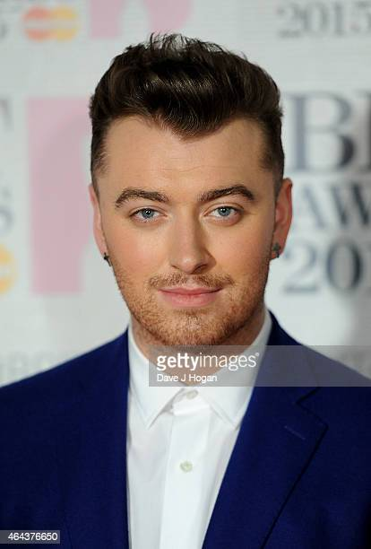 Sam Smith attends the BRIT Awards 2015 at The O2 Arena on February 25 2015 in London England