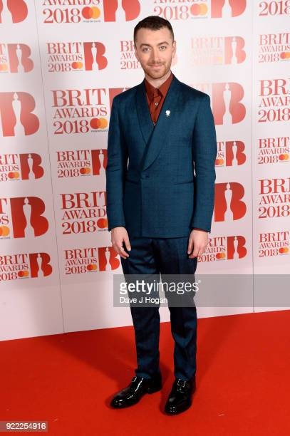 AWARDS 2018 *** Sam Smith attends The BRIT Awards 2018 held at The O2 Arena on February 21 2018 in London England