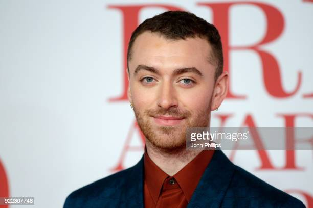AWARDS 2018*** Sam Smith attends The BRIT Awards 2018 held at The O2 Arena on February 21 2018 in London England