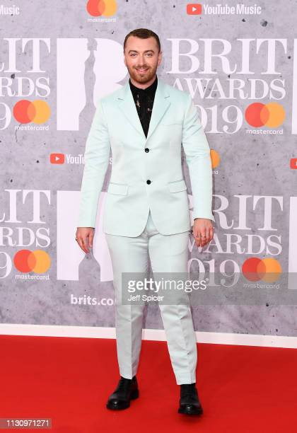 Sam Smith attends The BRIT Awards 2019 held at The O2 Arena on February 20, 2019 in London, England.