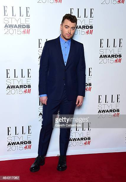 Sam Smith attends the Elle Style Awards 2015 at Sky Garden @ The Walkie Talkie Tower on February 24 2015 in London England