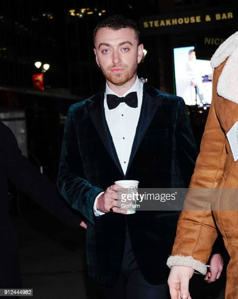 Sam Smith attends the Elton John tribute concert at Madison Square Garden on January 30 2018 in New York City