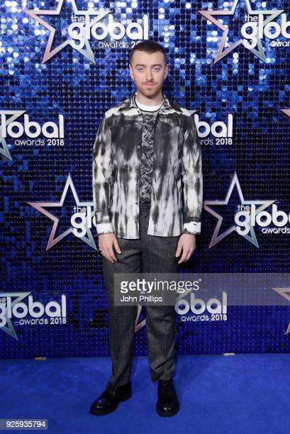 Sam Smith attends The Global Awards 2018 at Eventim Apollo Hammersmith on March 1 2018 in London England