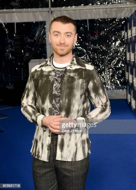 Sam Smith attends The Global Awards a brand new awards show hosted by Global the Media Entertainment Group at Eventim Apollo Hammersmith on March 1...