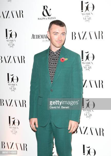Sam Smith attends the Harper's Bazaar Women of the Year Awards at Claridge's Hotel on November 2 2017 in London England