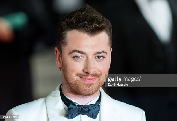 Sam Smith attends the Royal Film Performance of 'Spectre' at Royal Albert Hall on October 26 2015 in London England
