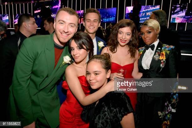 Sam Smith, Camila Cabello, Brandon Flynn; Sofi Cabello, Lorde and Janelle Monae attend the 60th Annual GRAMMY Awards at Madison Square Garden on...