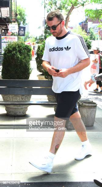 Sam Smith is seen on June 29, 2018 in New York City.