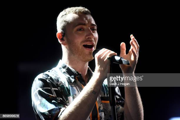 Sam Smith performs at Apple Music's 'On The Record The Thrill Of It All Live' streamed globally on November 3 2017 in London England