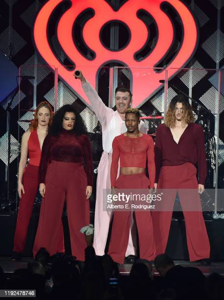 Sam Smith performs at KIIS FM's Jingle Ball 2019 at The Forum on December 06, 2019 in Inglewood, California.