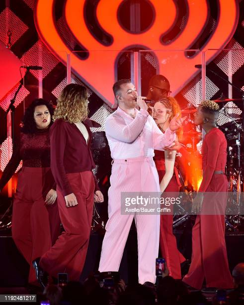 Sam Smith performs at KIIS FM's Jingle Ball 2019 presented by Capital One at The Forum on December 06, 2019 in Inglewood, California.
