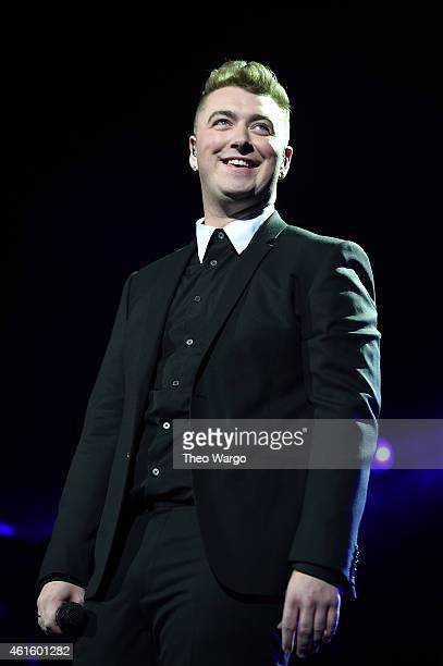 Sam Smith performs at Madison Square Garden on January 15 2015 in New York City